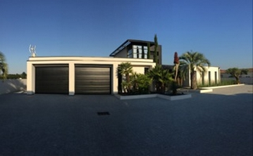 Modern house stucco finish Miami