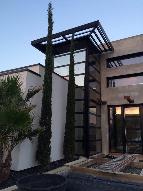 Stucco Work in progress Modern House