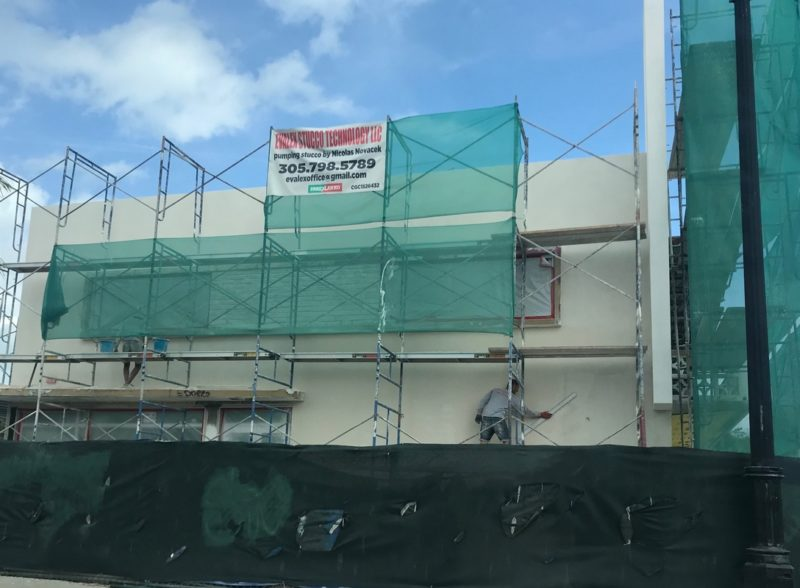 Stucco work in progress Commercial building Florida